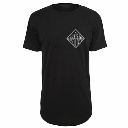 "Herren-T-Shirt ""Ischlove"" schwarz, Single-Jersey"