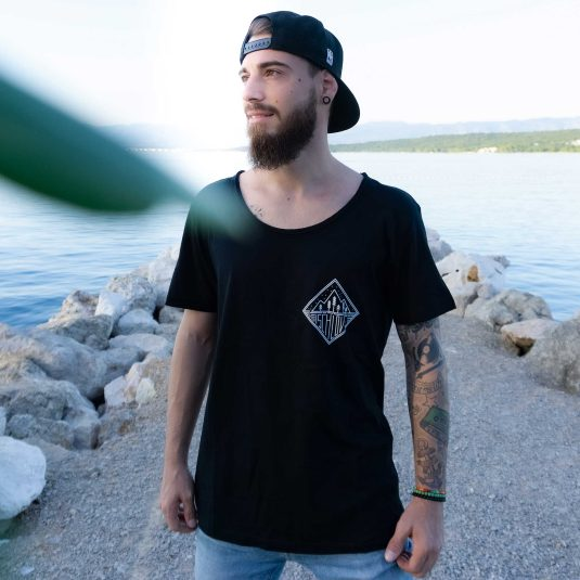 """Herren-T-Shirt """"Ischlove"""" schwarz, Baumwolle"""